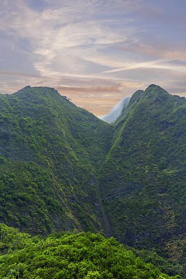 Maui Mountain Majesty Poster by Bill Tiepelman