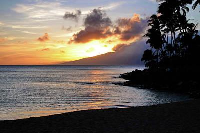 Maui Sunset Aglow Poster