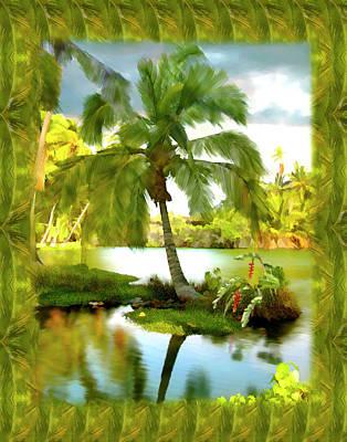 Mauna Lani Palm I Poster by Kurt Van Wagner