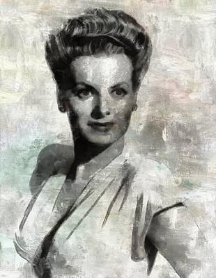 Maureen O'hara By Mary Bassett Poster