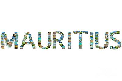 Mauritius Pictures Collage Poster