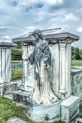 Mausoleum Angel Cemetery Landscape Poster