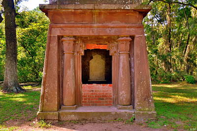 Mausoleum At St. Helena Islands,chapel Of Ease Bluffton Sc Poster