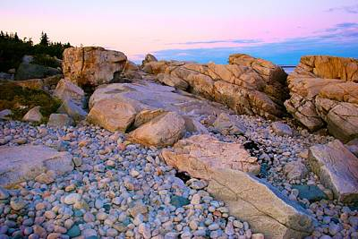 Mauve Light On Schoodic Penninsula Poster