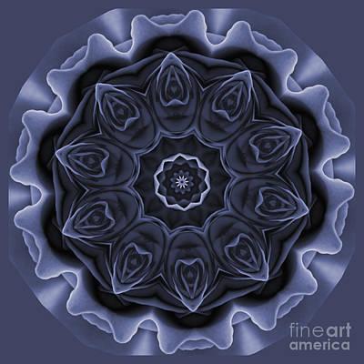 Mauve Rose Mandala Poster