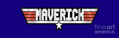 Maverick Callsign Poster by Fernando Miranda