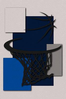 Mavericks Hoop Poster by Joe Hamilton