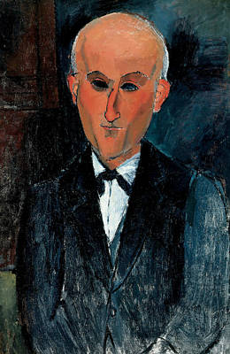 Max Jacob Poster by Amedeo Modigliani