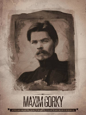 Maxim Gorky Poster by Afterdarkness