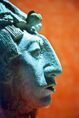Mayan Sculpture Poster