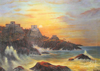Mayan Sunset Poster
