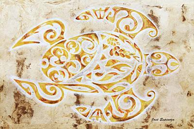 Mayan Turtle Poster by J- J- Espinoza