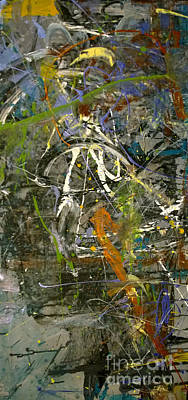 Poster featuring the painting 'maybe Guitar' Or Abstract 42515 by Robert Anderson