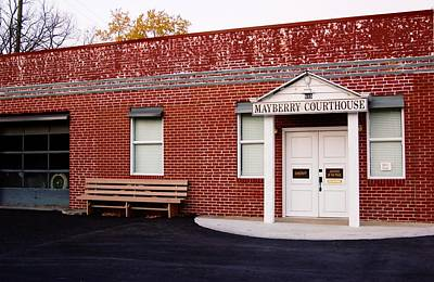 Mayberry Courthouse Nc Poster by Bob Pardue