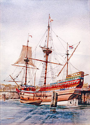 Mayflower II  Poster by P Anthony Visco