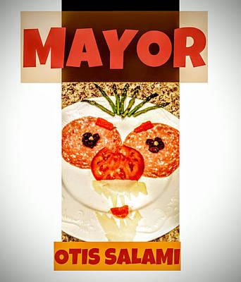 Poster featuring the photograph Mayor Otis Salami T-shirt by Jennifer Hotai