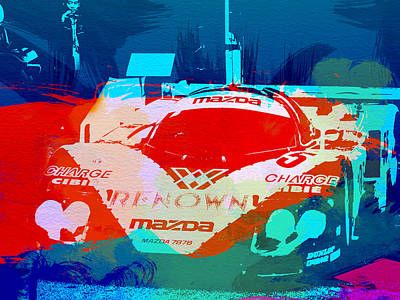 Mazda Le Mans Poster by Naxart Studio