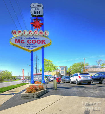Mc Cook Illinois - Route 66 Poster by Kevin Oconnell