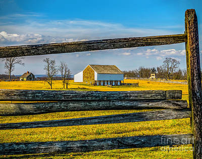 Poster featuring the photograph Mc Pherson Barn - Gettysburg National Park by Nick Zelinsky