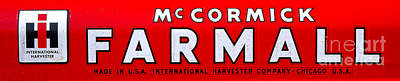 Mccormick Farmall By International Harvester Poster by Olivier Le Queinec