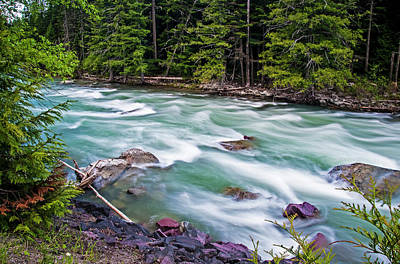 Poster featuring the photograph Mcdonald Creek by Gary Lengyel