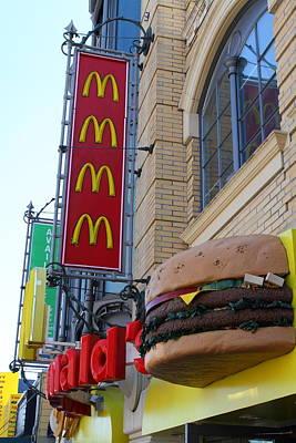 Mcdonalds Hamburger Restaurant . Fishermans Wharf . San Francisco California . 7d14249 Poster
