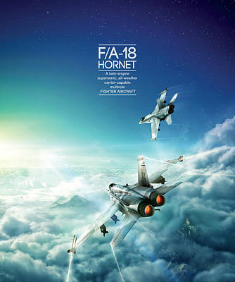 Mcdonnell Douglas F/a-18 Hornet Poster by Andrew Statkevych