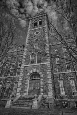 Mcgraw Hall - Bw Poster by Stephen Stookey