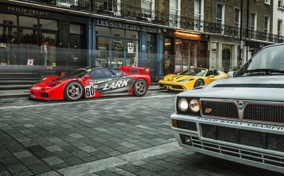 Mclaren F1 Gtr With Speciale And Integrale  Poster