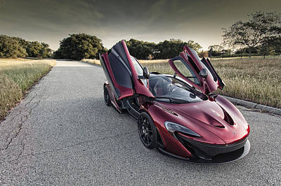 Poster featuring the photograph Mclaren P1 by ItzKirb Photography