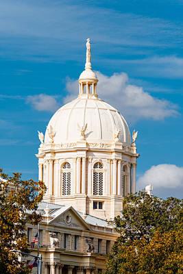 Mclennan County Courthouse Dome By J. Reily Gordon - Waco Central Texas Poster by Silvio Ligutti