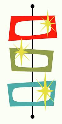 Mcm Shapes 3 Poster by Donna Mibus