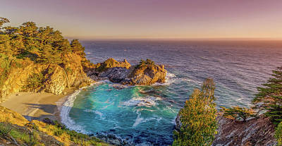 Mcway Falls Big Sur California Poster by Scott McGuire