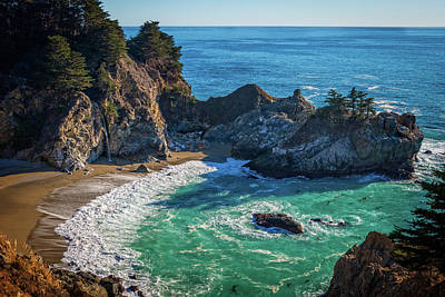 Mcway Falls Julia Pfieffer State Park Poster by James Hammond