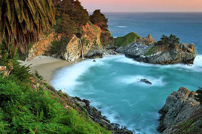 Mcway Falls Sunset Poster