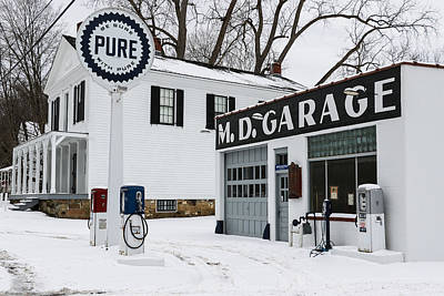 Md Garage 2 Poster by Luminant Lens Photography