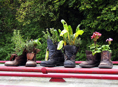 Me Garden Boots Poster
