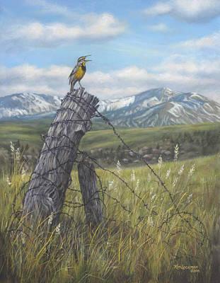Meadowlark Serenade Poster by Kim Lockman
