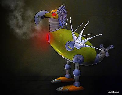 Mechanical Bird Poster by Ken Morris