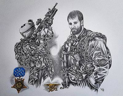 Medal Of Honor- Lt Michael Murphy Poster by Warren Gibson