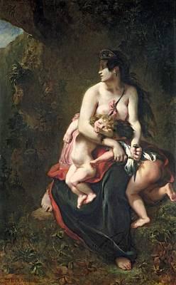 Medea Poster by Ferdinand Victor Eugene Delacroix