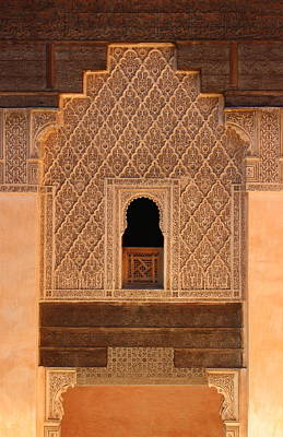 Poster featuring the photograph Medersa Ben Youssef by Ramona Johnston