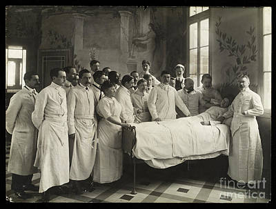 Medical Staff And Female Patient, 1910 Poster by Wellcome Images