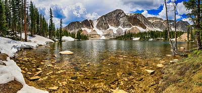 Medicine Bow Mountain Range Lake Panorama Poster