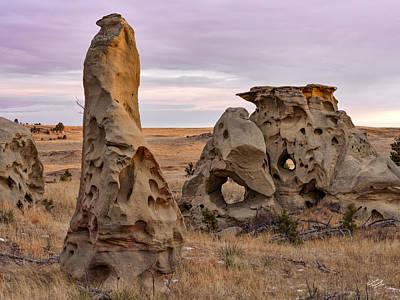 Medicine Rocks Sandstone Poster by Leland D Howard