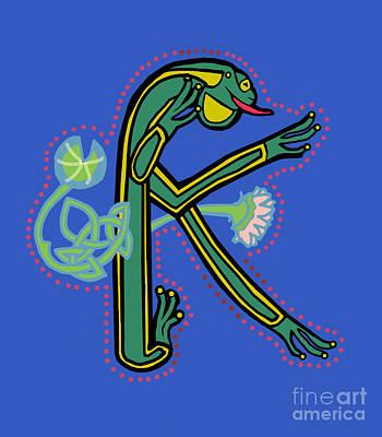Medieval Frog Letter K Poster