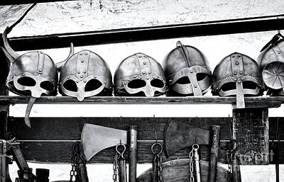 Medieval Helmets Poster by Tim Gainey