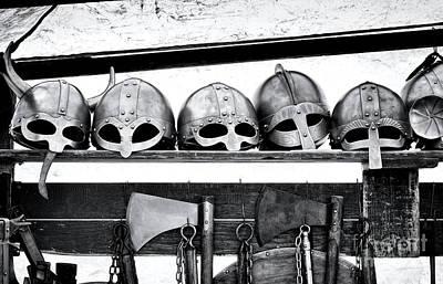 Medieval Helmets Poster