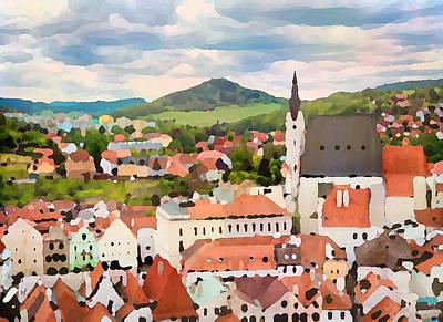 Medieval Village  Poster