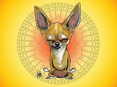 Meditating Chihuahua Poster
